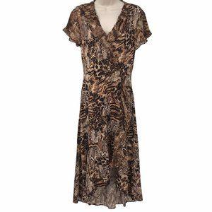 NWOT Kate & Mallory Animal Print Ruffle Dress M